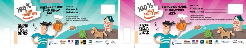 Le chèque cadeau «100% Haut Finistère»